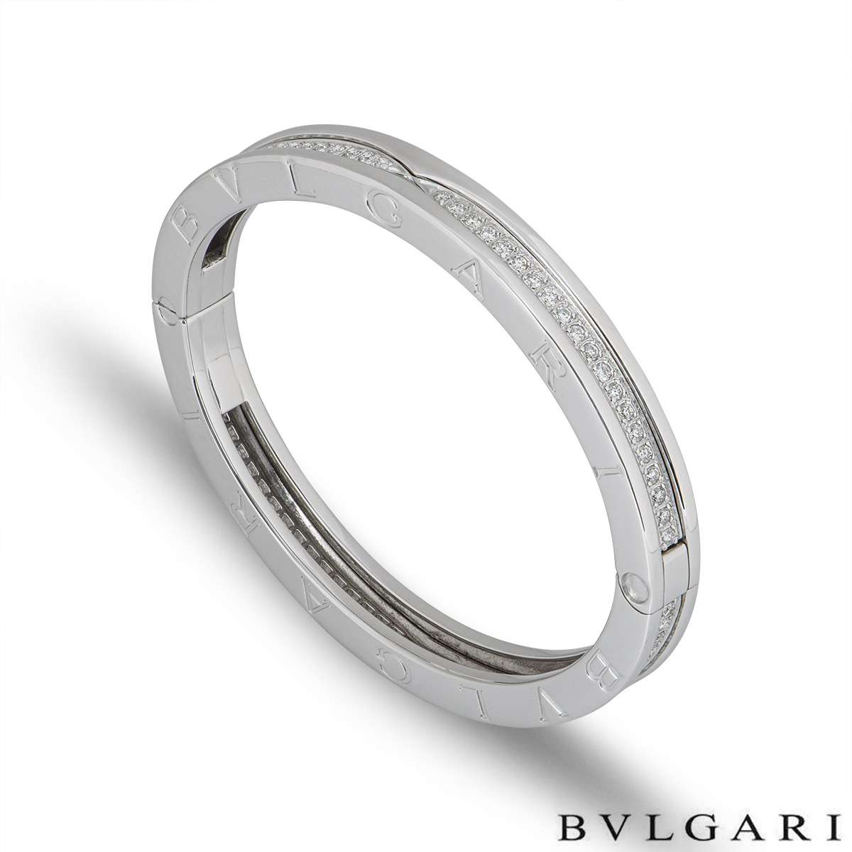 Bvlgari White Gold Diamond B.Zero1 Bangle